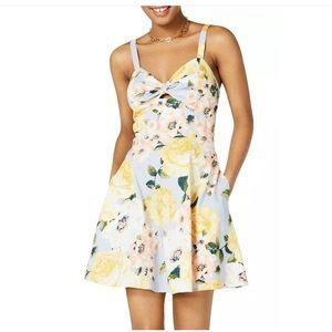 Jr. A-Line Floral Print sexy short summer dress